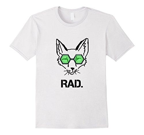 Mens Rad Fox Cool Fox Printed T-shirt For Men and Women  Small White