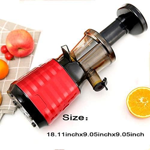 GYNFJK Jus de Fruits Multifonctionnel Extractor séparatrice légumes jus Résidu Lent Masticating Juicer Fonction Inverse, jus nutritive élevée, Facile à Nettoyer