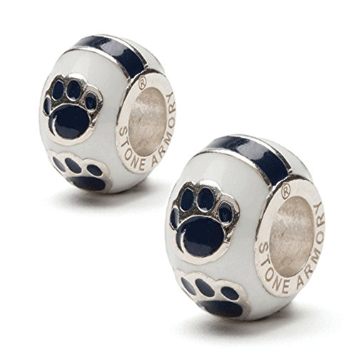 (Penn State Charms   Penn State Nittany Lions Paw Charms   Officially Licensed Penn State Charms   PSU Bead Charms   Penn State Jewelry   Stainless Steel)