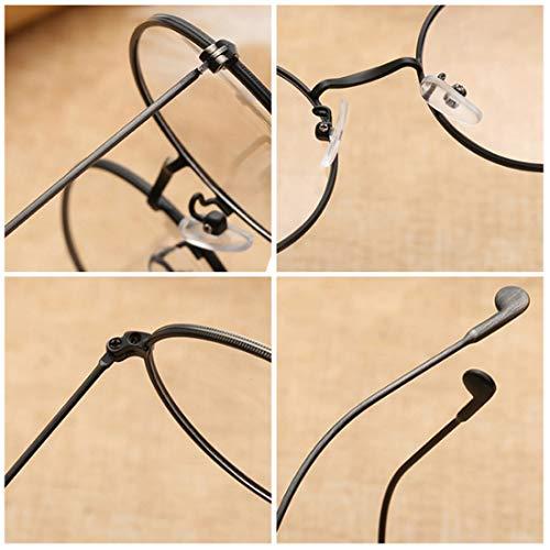Argent Vintage Metal Optique Noir Fashion Vue De Unisexe Full Ronde Lunettes Monture Aiweijia wIP1WEqC1