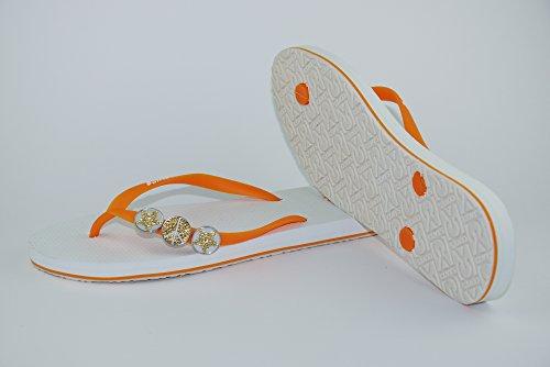 COVYS jandals orange/white #5110 women (Zehentrenner, Sandale, DIY, Pins) Orange/White