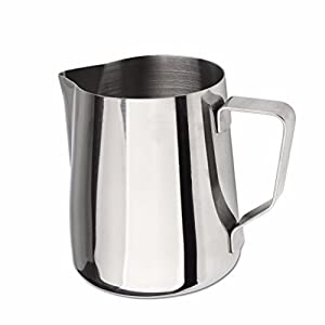 Domini Milk Frothing Pitcher Stainless Steel Metal 12 20 32 oz -For Milk Frothers, Espresso Cappuccino Coffee, Creamer ,Steaming ,chef,motta