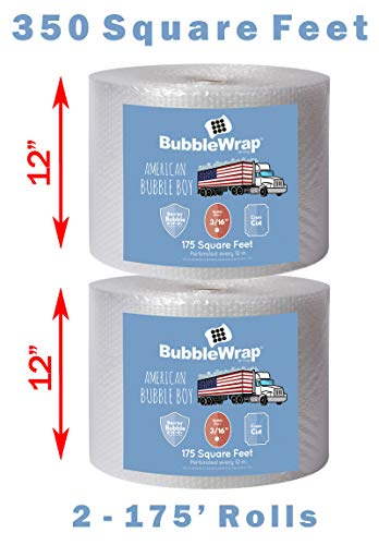 Bubble Wrap 350'BUBBLE BUNDLE for Packing, Shipping, Moving by American Bubble Boy from American Bubble boy