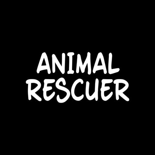 ANIMAL RESCUER Sticker Vinyl car Decal dog wildlife pet cat stray adopt business - Die cut vinyl decal for windows, cars, trucks, tool boxes, laptops, MacBook - virtually any hard, smooth surface