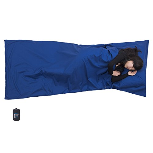 (Browint Cotton Camping Sheet, Sleeping Bag Liner, Cotton Sleep Sack for Hotels, Lightweight and Soft Travel Liner, Reinforced Gussets, 87