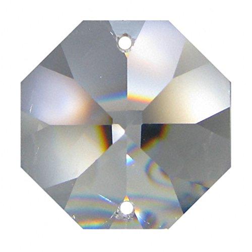 50x Glas Kristalle 16mm Octagon für Kronleuchter Lüster Lampen Ersatzeil Koppe