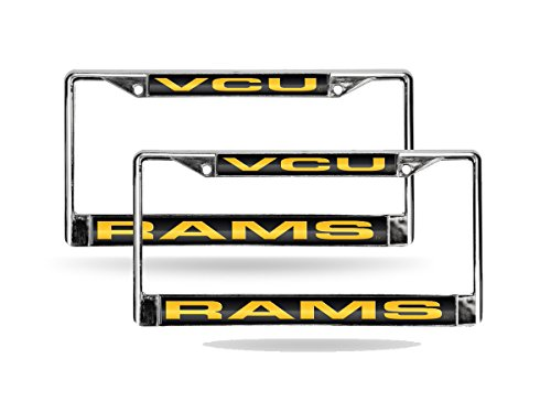 Virginia Commonwealth Rams Chrome Metal (2) Laser Cut License Plate Frame Set by Rico