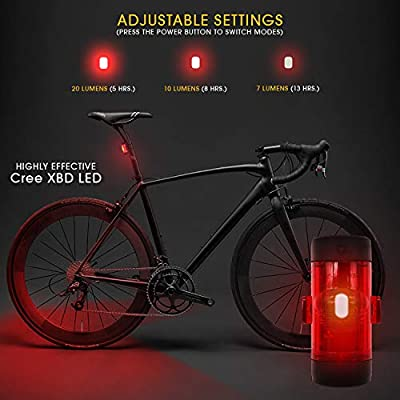 Yami R150 - Luz Trasera LED para Bicicleta (USB, Recargable, con ...