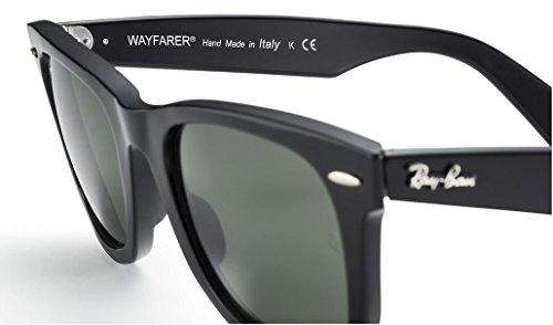 Ray-Ban Womens Wayfarer 50mm Black Frame/Green G-15xlt Lens