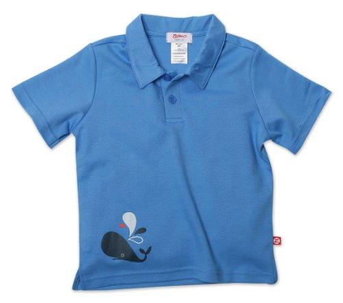 Zutano Baby Boys Whale Screen Polo Shirt