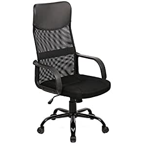 BestOffice Mid Back Mesh Ergonomic Computer Desk Office Chair Bl
