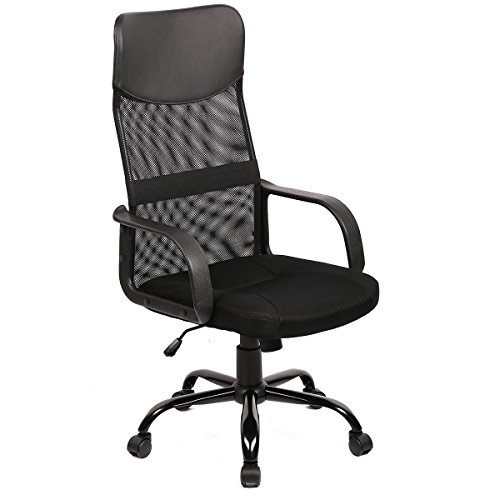 (New Black Modern Fabric Mesh High Back Office Task Chair Computer Desk Seat O25)