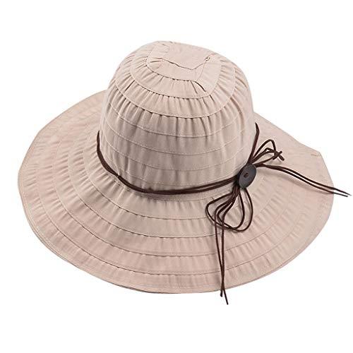 FACAIAFALO Hat Female Summer UV Stripe washbasin hat Fisherman hat Sun Visor Leisure can be stored Sunscreen Visor Outdoor (Top Lycra Tropic)