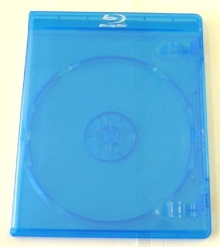 Square Deal Recordings & Supplies DVBR12BR Standard Blu Ray Replacement Cases With Screenprint Logo (Blue, 12mm, 25 Pack)