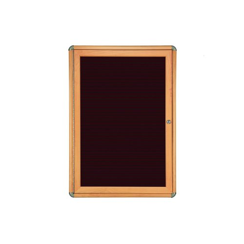 Ghent 1 Door Ovation Letter Board, Burgundy w/Maple Chrome Frame, 24-1/8''w x 33-3/4''H by Ghent