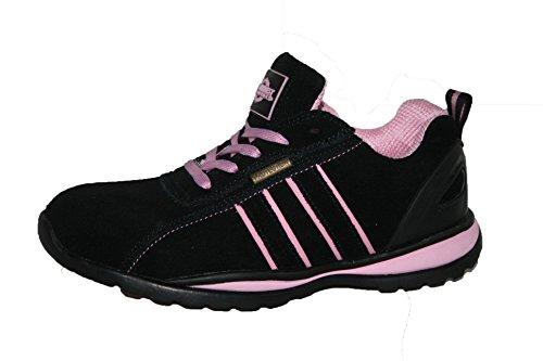 Zapatos Ottawa Cordones Punta Ligeras De Con Negro Seguridad En Los Para Acero La Dedos Mujer rrdHgw