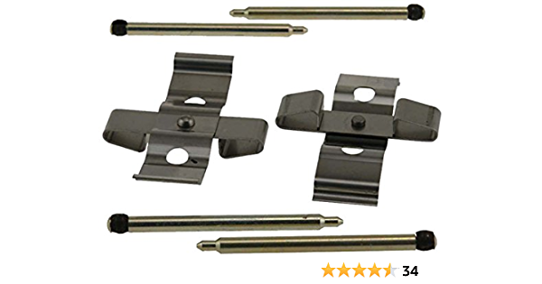ACDelco 18K244X Professional Front Disc Brake Caliper Hardware Kit with Springs and Seals