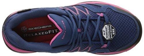 Skechers Work Womens Conroe Abbenes Slip Resistant Shoe Navy/Pink