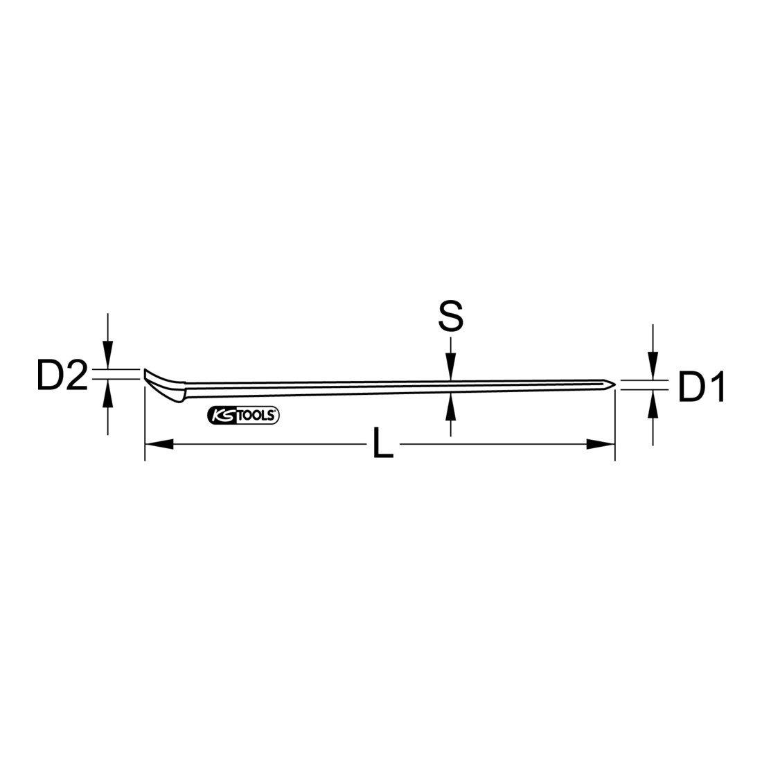 KSTools 156.0598 Pince à Talon Renforcé 1800 mm KS Tools 4042146191927