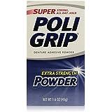 PoliGrip Super Denture Adhesive Powder, Extra Strength, 1.6 oz (45 g)  One Bottle