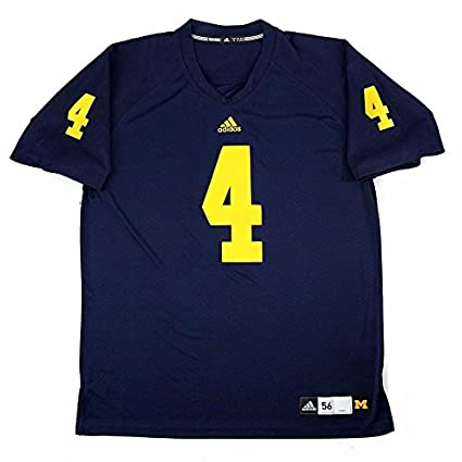 Michigan Wolverines NCAA Adidas Men s Navy Blue Authentic On-Field Game Football  Jersey (S 8596a3157