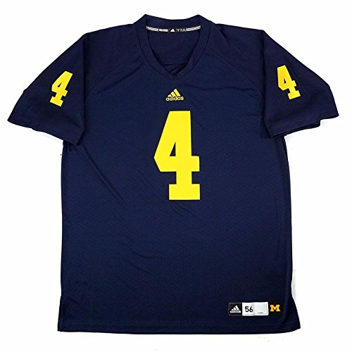 Authentic Ncaa Jersey - adidas Michigan Wolverines NCAA Men's Navy Blue Authentic On-Field Game Football Jersey (XL)