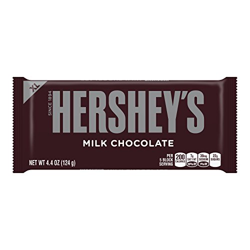 HERSHEY'S Extra Large Chocolate Bar, 4.4 Ounce
