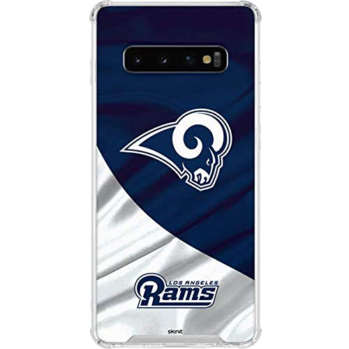 Skinit Los Angeles Rams Flag Galaxy S10 Clear Case - Officially Licensed NFL Phone Case Clear - Transparent Galaxy S10 Cover