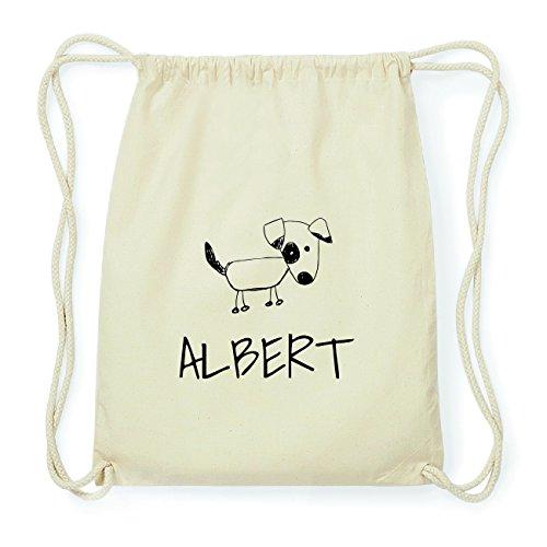 JOllipets ALBERT Hipster Turnbeutel Tasche Rucksack aus Baumwolle Design: Hund