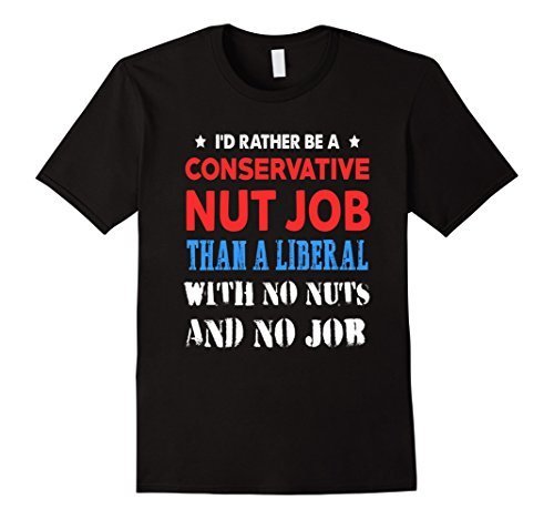 Men's FUNNY ANTI LIBERAL T-SHIRT Vote Conservative President Large Black - Current Political Halloween Costumes