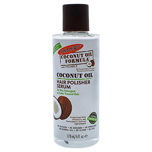 Palmer's Coconut Oil Formula Hair Polisher Serum  |   for Dry, Damaged or Color Treated Hair  |  6 fl. oz. (Pack of 2) (Egg And Coconut Oil For Hair Loss)