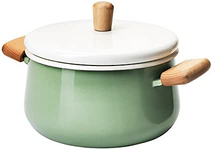 Ikea Kastrull Enameled Steel Pot with Lid and Easy grip Wood