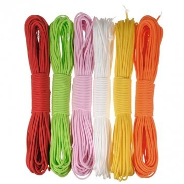 1 of 11 color: 550 100FT Nylon Desert Parachute Cord for Outdoor Survival (Color: Red)