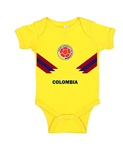 Infant Jersey - J&D Baby Bodysuits Colombia-Mexico-Peru-Russia World Cup 2018 (Yellow-Colombia, 9-12 Months)