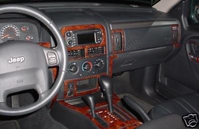 Jeep Grand Cherokee Laredo Limited Interior Burl Wood Dash Trim Kit Set 1999 2000 2001 2002