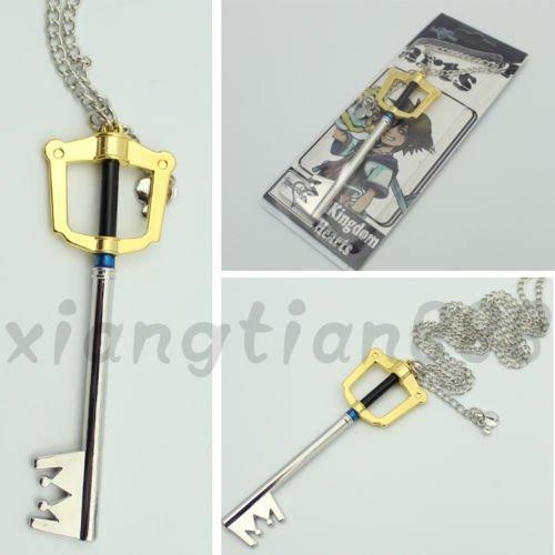 Cool Anime Kingdom Hearts Sora Key Necklace Pendant Cosplay Otaku Handmade Hot