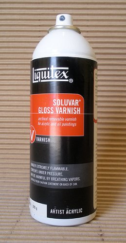 Liquitex Professional Soluvar Gloss Varnish, Aerosol Spray 400 ml