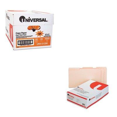 KITUNV16123UNV21200 - Value Kit - Universal File Folders (UNV16123) and Universal Copy Paper (UNV21200)