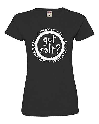 X-Large Black Womens Got Salt? Supernatural Deluxe Soft T-Shirt -