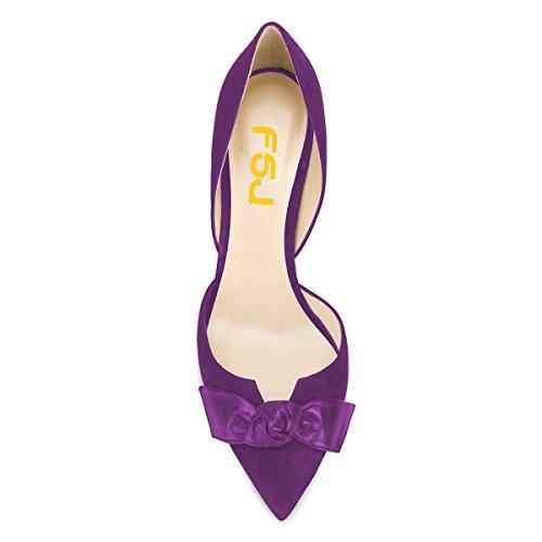 Pumput 4 15 Suljettu Violetti Toe Dress Nro Korkokengät Fsj Meitä Osapuoli Naiset D'orsay Klassinen Muodollinen Kengät 7wqtta