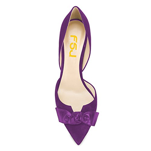 Suljettu Klassinen Pumput Nro Fsj 4 Toe D'orsay Kengät 15 Osapuoli Naiset Dress Korkokengät Meitä Violetti Muodollinen qpI5qtAwx