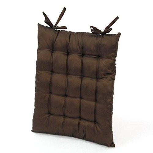 Cojin para silla en tafeta color marron chocolate de 40 x 40 ...