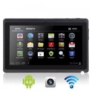 "7"" Capacitive Touch Screen Android 4.0 4GB Tablet PC with Camera TF 3D UK Adaptor Black"