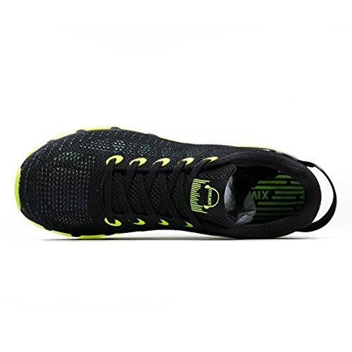 Onemix Air Herren Laufschuhe für das Training auf der Straße Sneaker Schwarz / Gelb