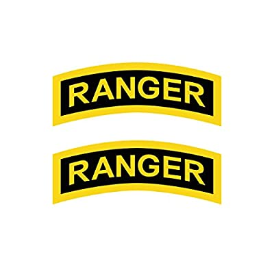 Two Pack United States Army Rangers Sticker FA Graphix Decal Self Adhesive Vinyl Elite Infantry Unit: Automotive