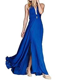 CA Mode Women Plunging Neckline Summer Beach Evening Prom Gown Party Maxi Dress