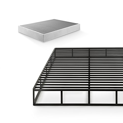 Zinus 9 Inch Quick Lock High Profile Smart Box Spring / Mattress Foundation / Strong Steel Structure / Easy Assembly, King (Slat Back 5 Piece)