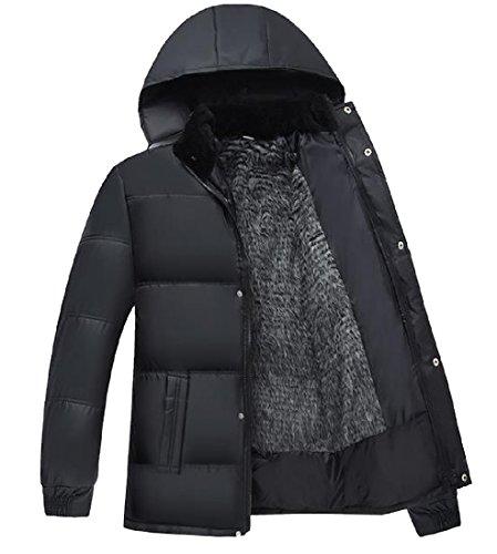 XINHEO Men Oversized Full Zip Thickening Fall Winter Parka Jacket Grey