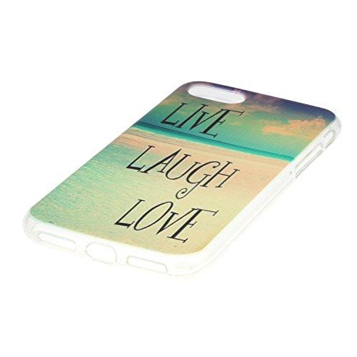"""Hülle iPhone 7 Plus / iPhone 8 Plus , LH Liebe Zum Lachen Leben TPU Weich Muschel Tasche Schutzhülle Silikon Handyhülle Schale Cover Case Gehäuse für Apple iPhone 7 Plus / iPhone 8 Plus 5.5"""""""