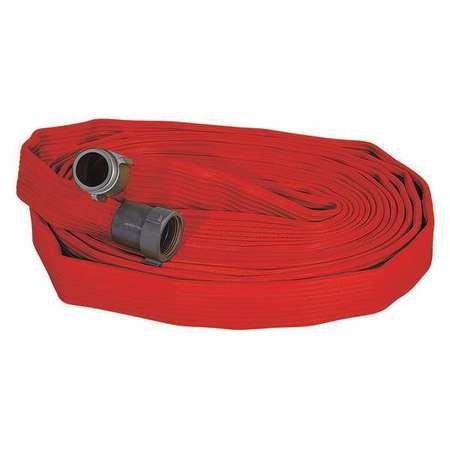 Fire Hose, 50 ft. L, Red, 2-1/2'' dia.